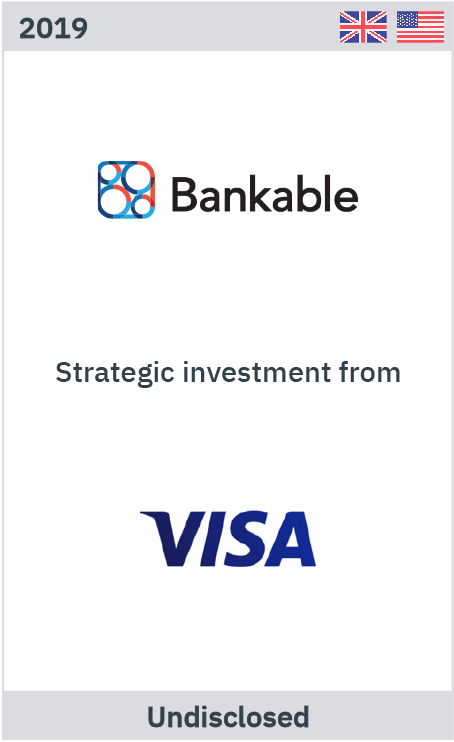 Zelig Associates advises Bankable on strategic investment by Visa