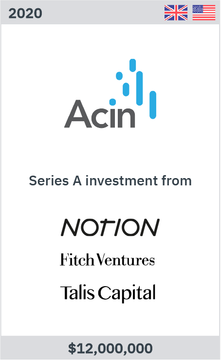 Zelig advises Acin on its USD12m Series A
