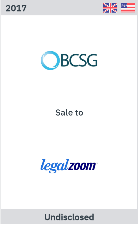 Zelig Associates advises BCSG on its sale to LegalZoom