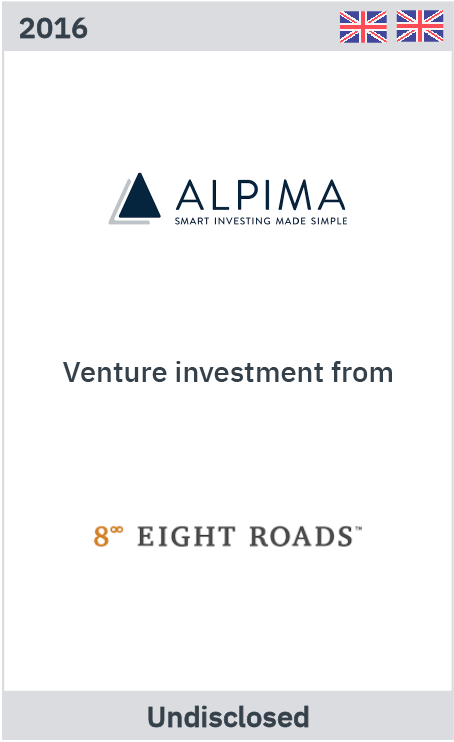 Alpima venture investment from Eight Roads