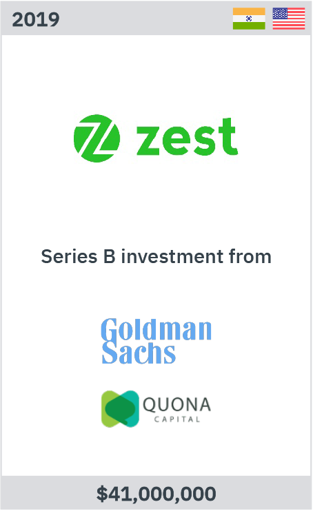 Zest series B investment from Goldman Sachs