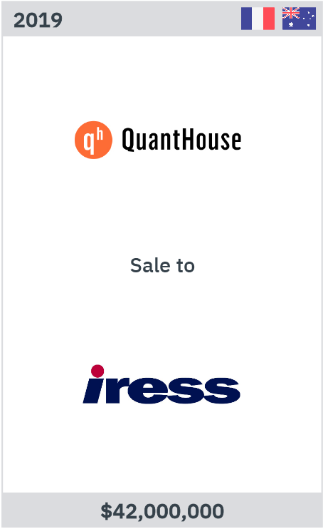 Quanthouse sale to iress